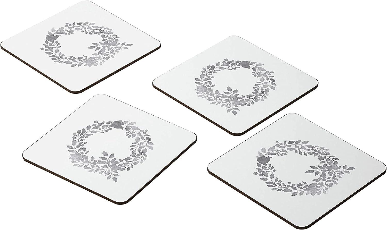 Bonamaison Coasters - Set of 4 Absorbent E Excellent MDF 9x9CM Max 86% OFF -Premium