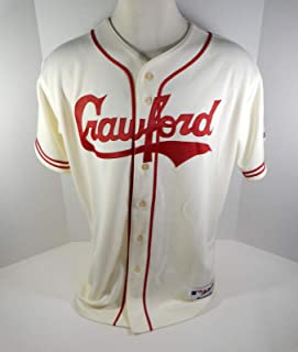 2018 Pittsburgh Crawfords Game Issued Cream Jersey PITT32469 - Game Used MLB Jerseys