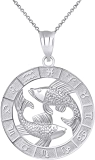 Best pisces necklace sterling silver Reviews