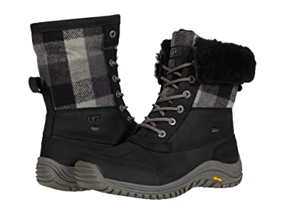 UGG Adirondack Boot II Plaid (Black) Women