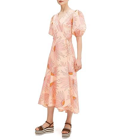 Kate Spade New York Falling Flower Wrap Dress (Light Guava Juice) Women