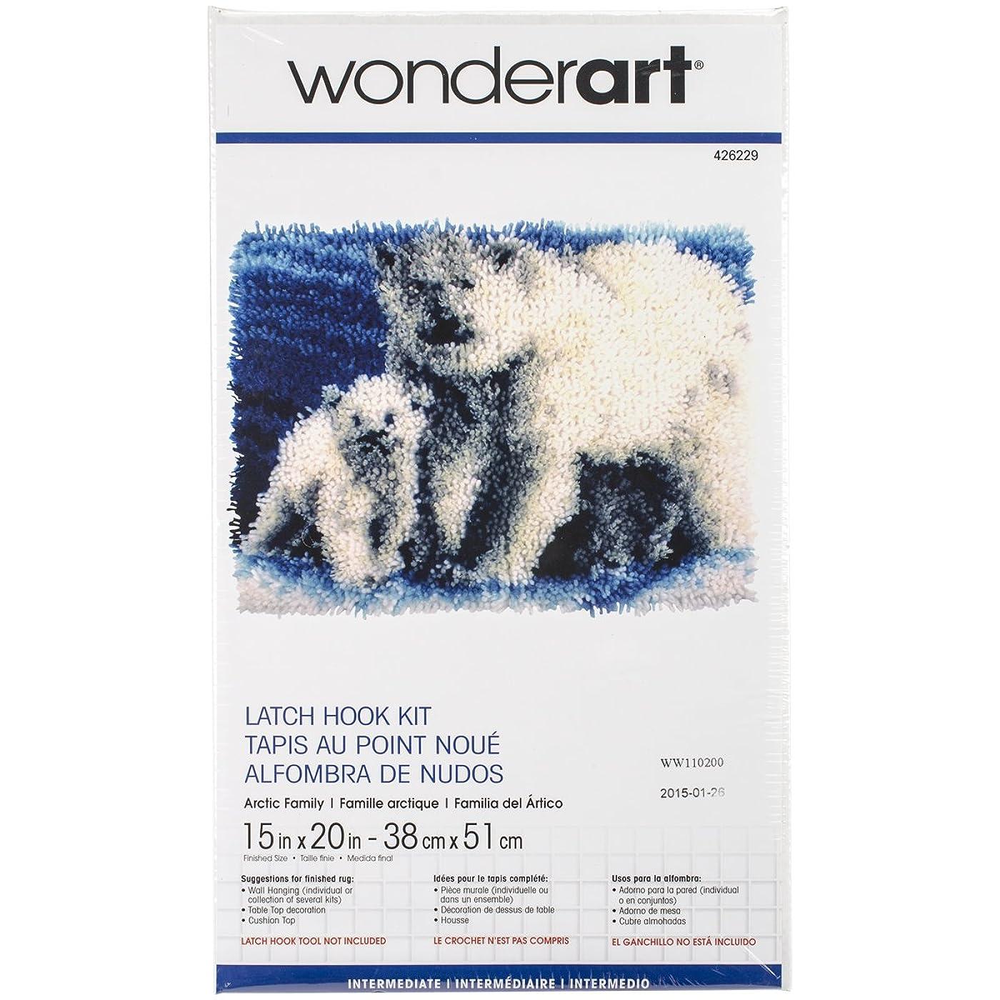 Wonderart Arctic Family Latch Hook Kit, 15