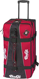 BoGi Bag Bag Reistrolley 110 Liter - Rot/Schwarz Bagage Cabine, 85 cm, Rouge (Rot/Schwarz)