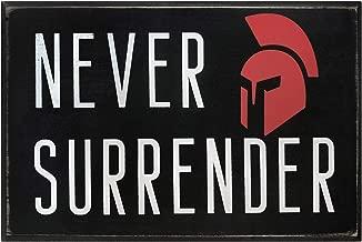 Never Surrender Motivational Wall Art Decor 6