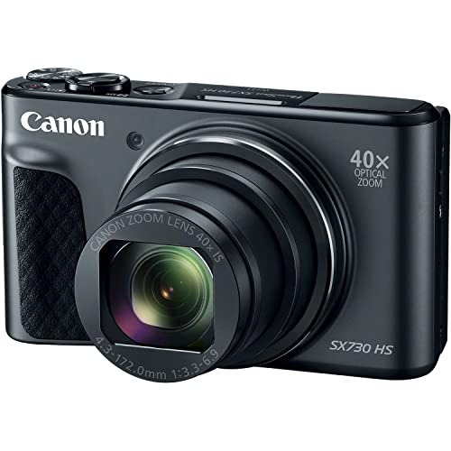 Canon PowerShot SX730 Digital Camera w/40x Optical Zoom & 3 Inch Tilt LCD - Wi-Fi, NFC, & Bluetooth Enabled Black (Renewed)