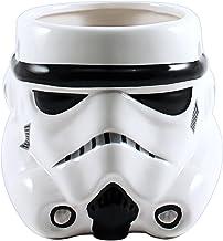 Silver Buffalo SW9895 Star Wars Episodes 1-6 Storm Trooper Big Face 3D Sculpted Ceramic Mug, 20-Ounces