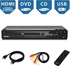 Home DVD Player for TV, HDMI Output Full HD 1080p Upscaling, USB Port, Supports Multi..