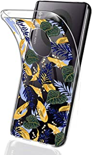 Suhctup Compatible pour Huawei Enjoy 8/Honor 8S Coque Silicone Transparent Ultra Mince Étui avec Clear Mignon Fleurs Motif...