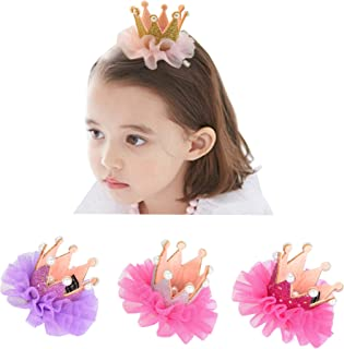 Ecome 3pcs Girl Hairpin Baby Elastic Flower Crown Headwear Hair Accessories