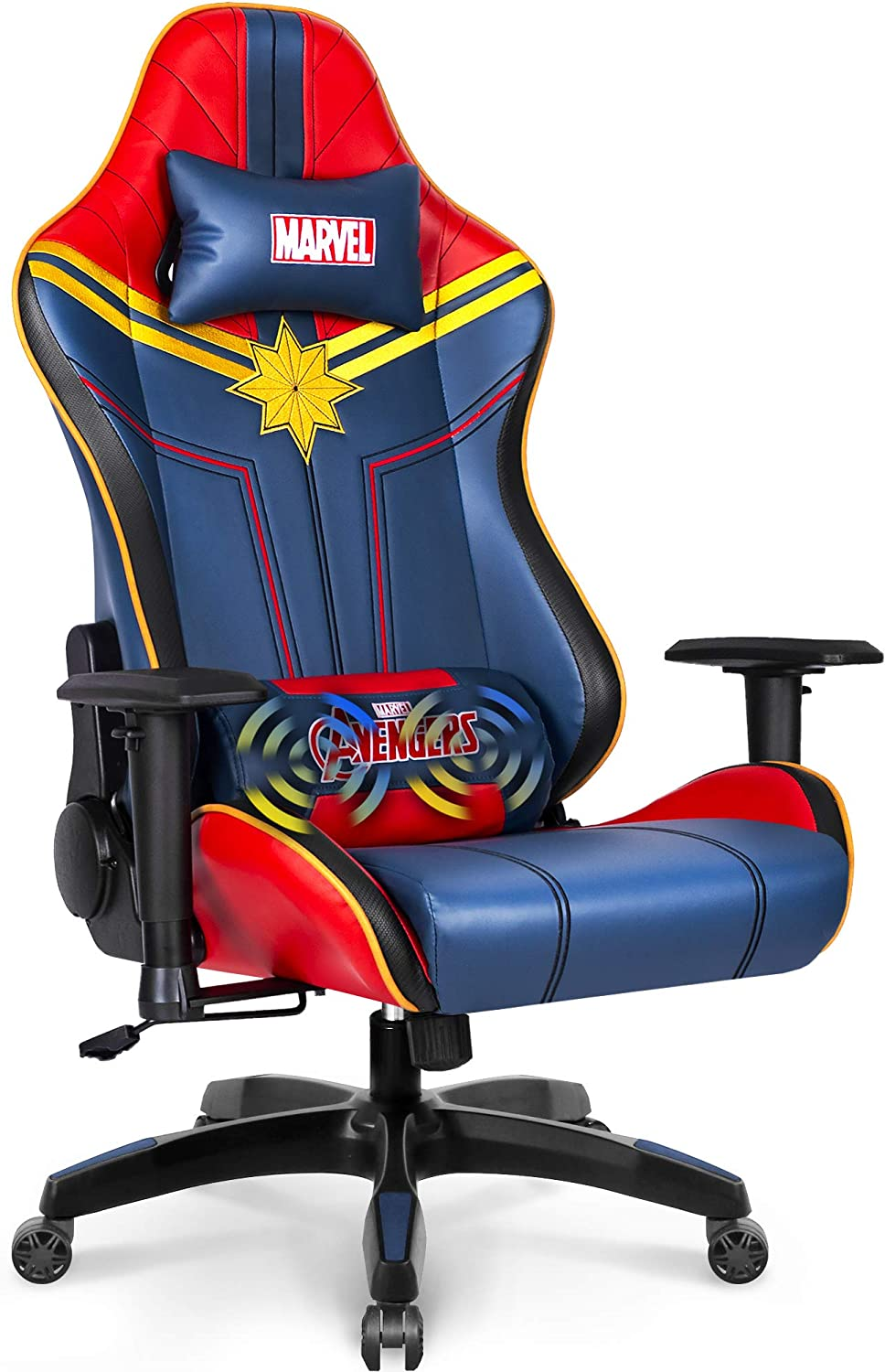 Marvel Avengers Massage Gaming Max 78% OFF Chair Office Racing Desk Superior Computer