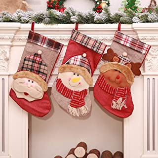 Christmas Decorative Items of Children's Bags Candy Bags Socks The New Large Christmas Stockings,Durability (Color : Three-Piece Suit, Size : 22 * 44cm)