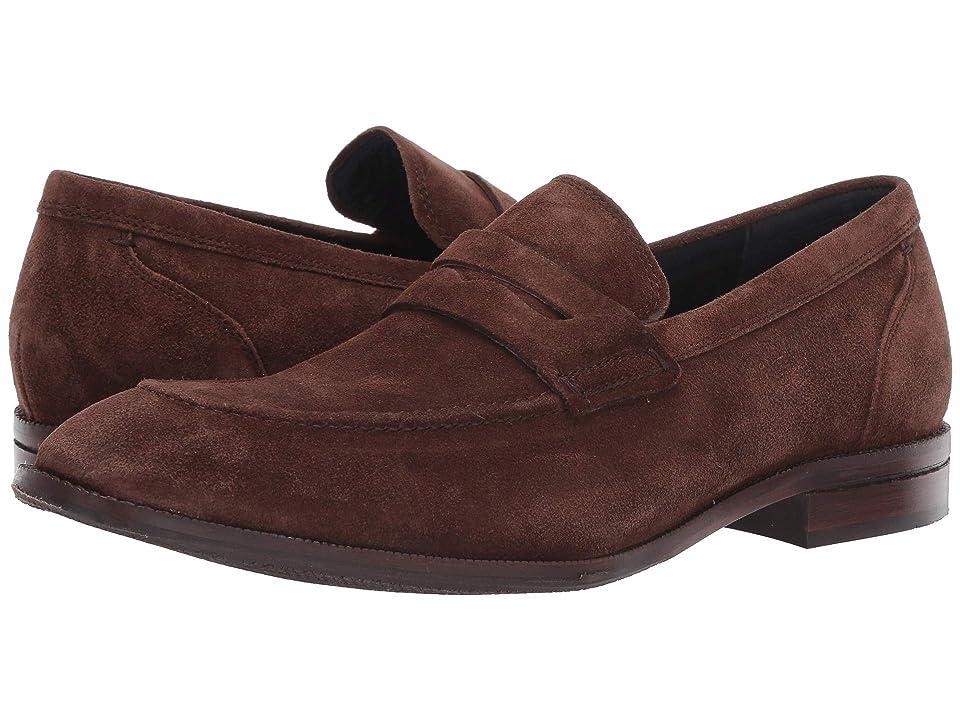 Cole Haan Warner Grand Penny Loafer (Bourbon Suede/Leather) Men