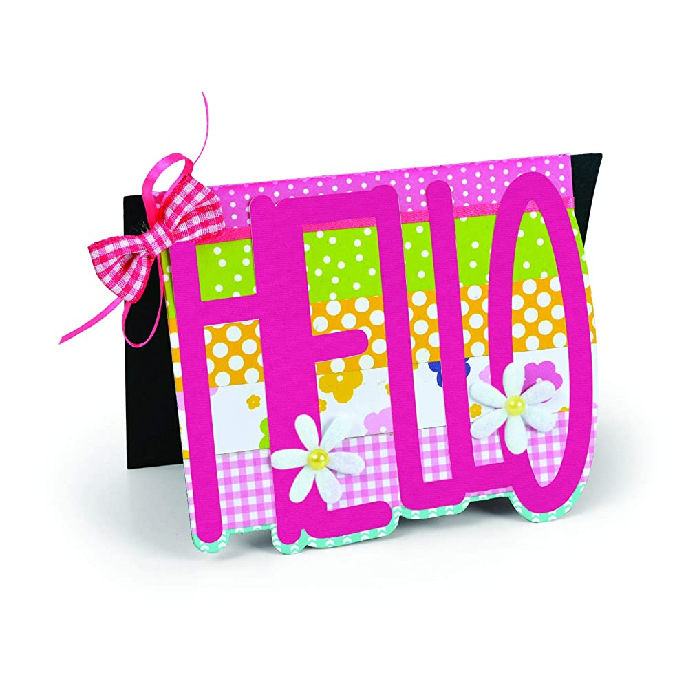 Sizzix 663123 Framelits Die Set Card, Hello Drop-ins by Stephanie Barnard, 3-Pack, Multicolor