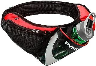 PYFK Running Belt Hydration Waist Pack with Water Bottle Holder for Men Women Waist Pouch Fanny Bag Reflective Fits iPhone 6/7 Plus