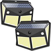 ZEEFO Solar Lights Outdoor 260LED, Wireless Double Solar Motion Sensor Lights with 300 Degrees Sensor Angle, IP65 Waterpro...