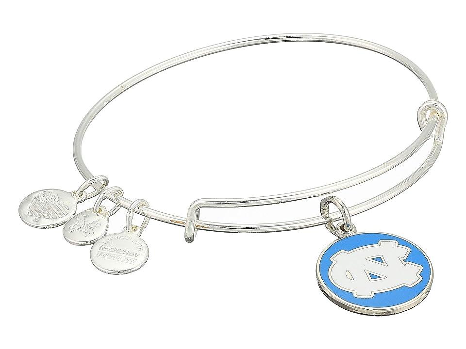 Alex and Ani Color Infusion University of North Carolina Logo II Bangle (Shiny Silver) Bracelet