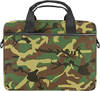 EGGDIOQ Camouflage Pattern Laptop Shoulder Messenger Bag Briefcase Messenger Notebook Sleeve with Handle for 13.4 Inch to ...