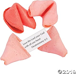 50 Pieces Pink & Red Bible Verse Fortune Cookies- Party Decoration Favors