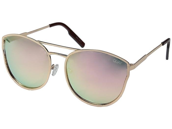 QUAY AUSTRALIA Cherry Bomb (Rose Gold/Pink Mirror) Fashion Sunglasses