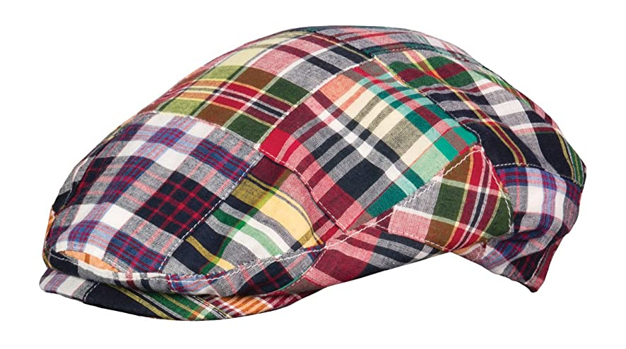 Broner Mens Patchwork Madras Plaid Ivy Cap