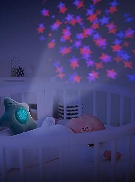 ZOPA Peluche con Proiettore Proiettore Stella per Bambini Gufo Luce Notturna