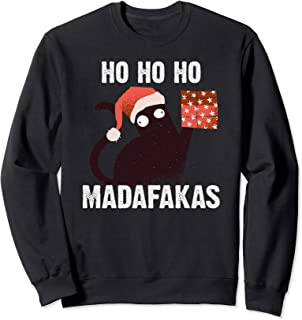 Ho Ho Ho Madafakas Funny Cat I Disfraz Pijamas Gato de Sudadera