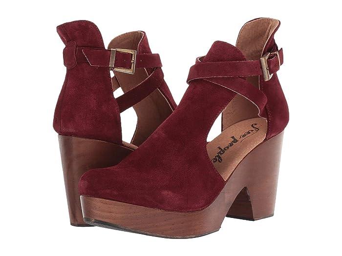 60s Shoes, Boots Free People Cedar Clog Wine Womens Clog Shoes $80.10 AT vintagedancer.com