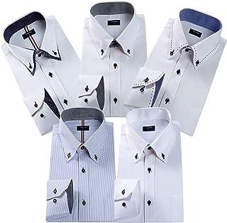 ワイシャツ メンズ 長袖 ビジネスワイシャツ セット Yシャツ5枚組入り 多色選択
