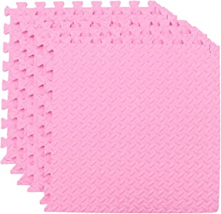 BESPORTBLE 6pcs Puzzle Exercise Floor Mat EVA Foam Interlocking Tiles Padding Soft Flooring for Exercising Yoga Camping Ki...