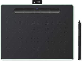 【Amazon.co.jp限定】ワコム ペンタブレット Wacom Intuos Mediumワイヤレス クリスタ付き グリーン Androidにも対応 データ特典付き TCTL6100WL/E0