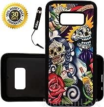 Custom Galaxy S8 Case (Sugar Skull Day of the Dead) Edge-to-Edge Rubber Black Cover Ultra Slim | Lightweight | by Innosub