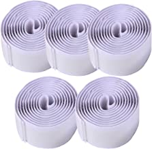 ULTECHNOVO 5St Zelfklevende Klittenband Witte Plakband Bevestigingstape Zelfklevende Stof Montage Tape Sluiting 1M