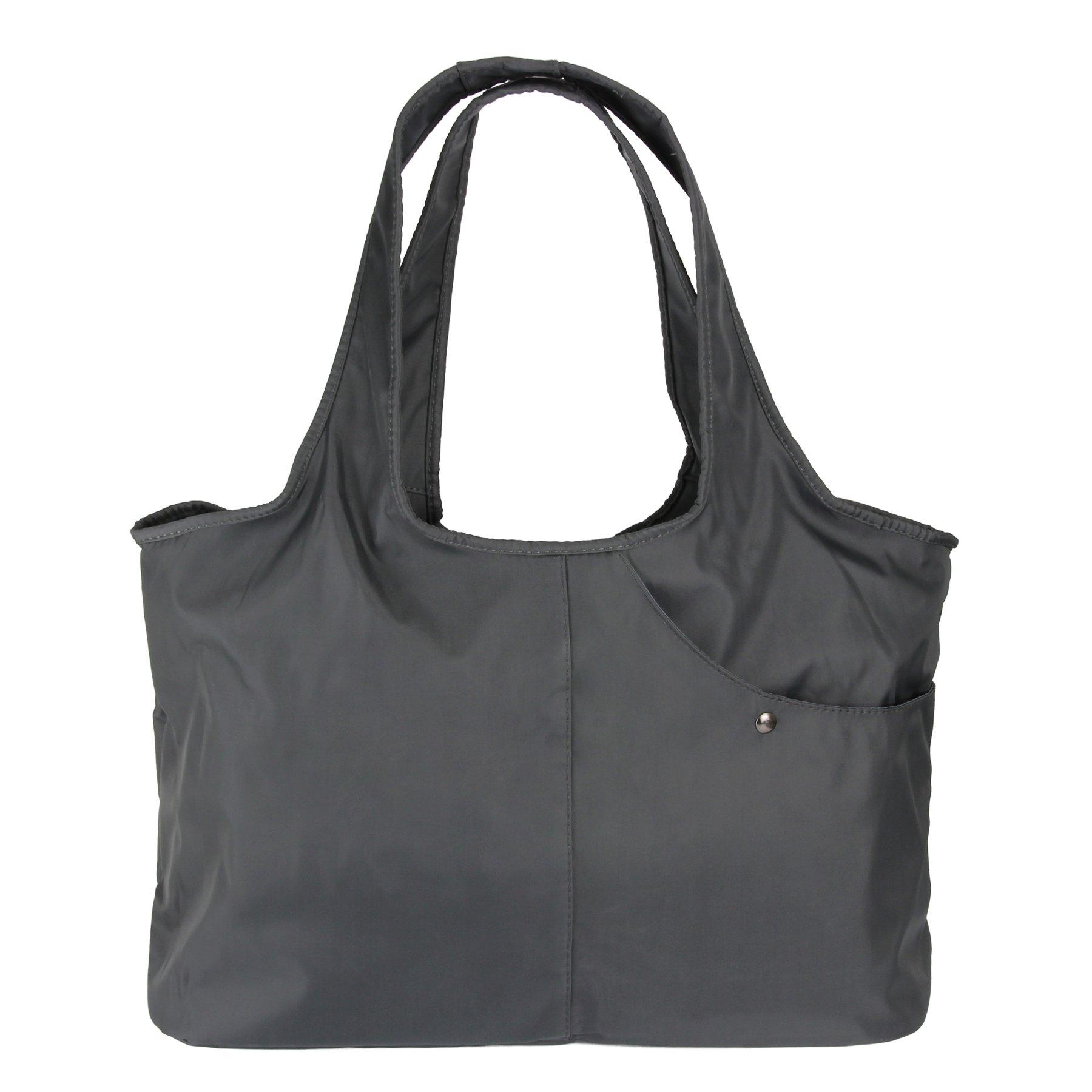 ZOOEASS Women Fashion Large Tote Shoulder Handbag Waterproof Tote Bag Multi-function Nylon Travel Shoulder