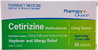 Pharmacy Choice Cetirizine Allergy Relief Tablets 30 (Same as Zyrtec)