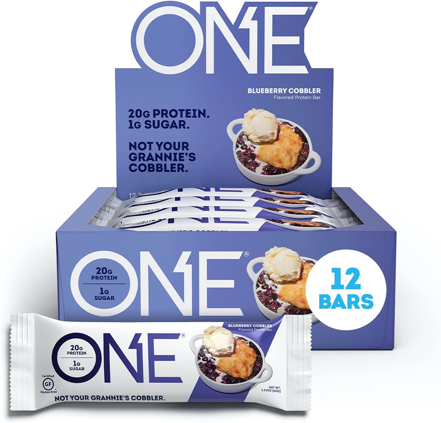 ONE Protein Bars Blueberry Gluten wi Ranking Under blast sales TOP16 Cobbler Free