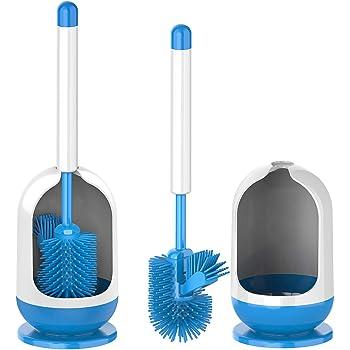 MR.SIGA Soft Bristle Toilet Brush Set, Dia 12cm x 41cm Height, Pack of 2