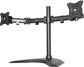 VIVO Dual Monitor Mount Stand, Fully Adjustable Desk Free-Standing for 2 LCD LED Screens Up To 27 inches STAND-V002P