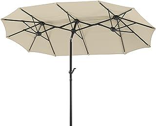 Schneider Schirme, Salerno paraply, Beige, 300 x 150 cm
