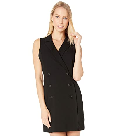 BCBGeneration Button Front Tuxedo Dress GEF6229545 (Black) Women