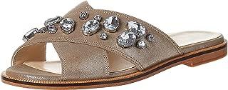 Ninewest Silica Sandal For Women, Gold, Size 35.5 EU