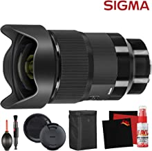 Sigma 20mm f/1.4 DG HSM Art Lens for Sony E (412965) and Cleaning Accessories Bundle