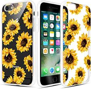 Caka iPhone 6 Case, iPhone 6s Clear Floral Case Flower Pattern Flower Series Slim Cute Girly Women Anti Scratch Excellent Grip Premium Clarity TPU Crystal Case for iPhone 6 6s 4.7 inch (Sunflower)