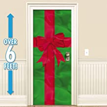 Amscan Holiday Decor Foil Door Decoration - Red and Green - 78