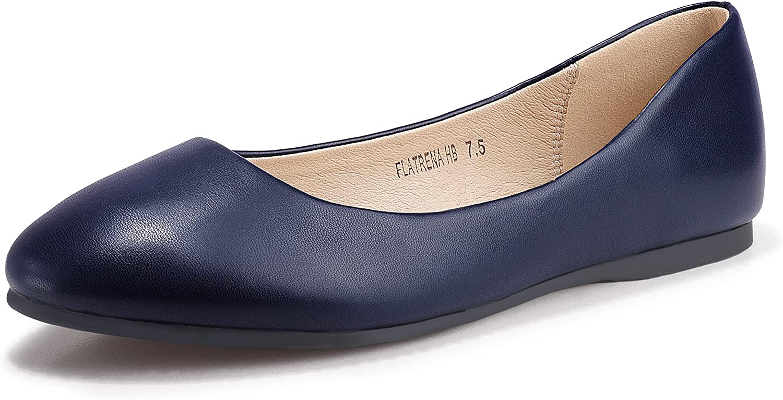 IDIFU Women's Comfortable NEW before selling ☆ Max 73% OFF Closed Round Sh Dress Ballet Toe Flats