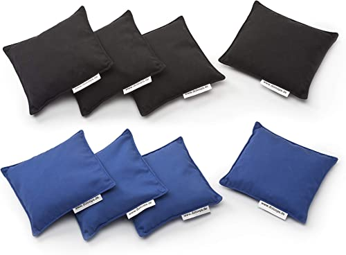 doloops Original Cornhole 8er Bag Set - 4 Schwarz und 4 Blaue Turnierbags als Set