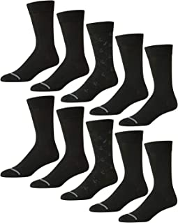 Nautica Mens 10 Pack Moisture Control Solid Dress Socks