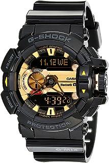 G-Shock 男式 GBA400 G'Mix 旋转开关 BLE 手表,黑色/金色,均码