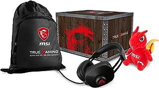 MSI Gaming Level Loot Box con Dragon Fever Gaming auriculares, bolsa y peluche de la suerte (957-1XXXXE-066)
