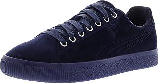 Puma Men's Clyde Velour Ice Peacoat Ankle-High Velvet Fashion Sneaker - 10.5M