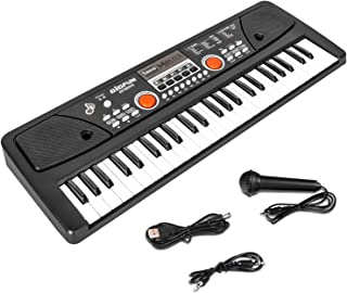 M SANMERSEN Kids Keyboard with Microphone, Kids Piano Keyboa